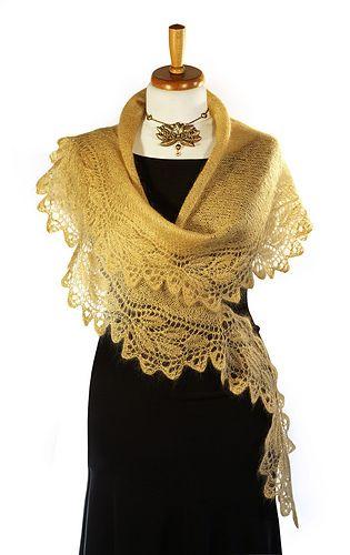 Ravelry: PEARL Frappé - Artful rose lace stole pattern by Christiane Klink