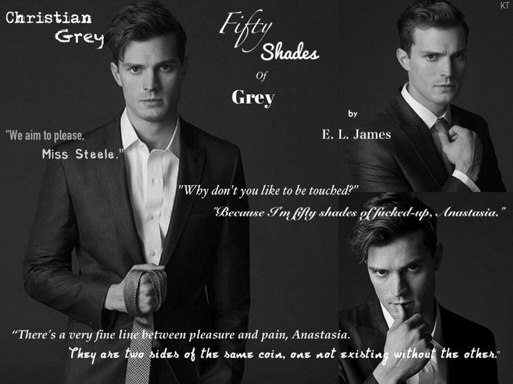 Jamie Dornan as Christian Grey from Fifty Shades Of Grey by E L James.