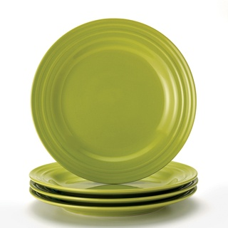 @Overstock - This Double Ridge dinnerware set from Rachael Ray is a great tabletop solution for every occasion from simple family weeknight meals to entertaining friends with vibrant and colorful pieces. These plates are microwave and dishwasher safe for easy cleanup.http://www.overstock.com/Home-Garden/Rachael-Ray-Double-Ridge-11-inch-Green-Dinner-Plates-Set-of-4/7468917/product.html?CID=214117 $33.49