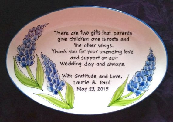 Hey, I found this really awesome Etsy listing at https://www.etsy.com/listing/227055862/wedding-gift-for-parents-plate-thank-you