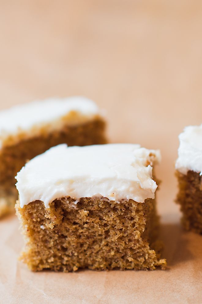 Simple Pumpkin Cake - Easy to make but oh-so-moist and delicious! Top with cream cheese frosting and this is a heavenly pumpkin dessert! @crissy