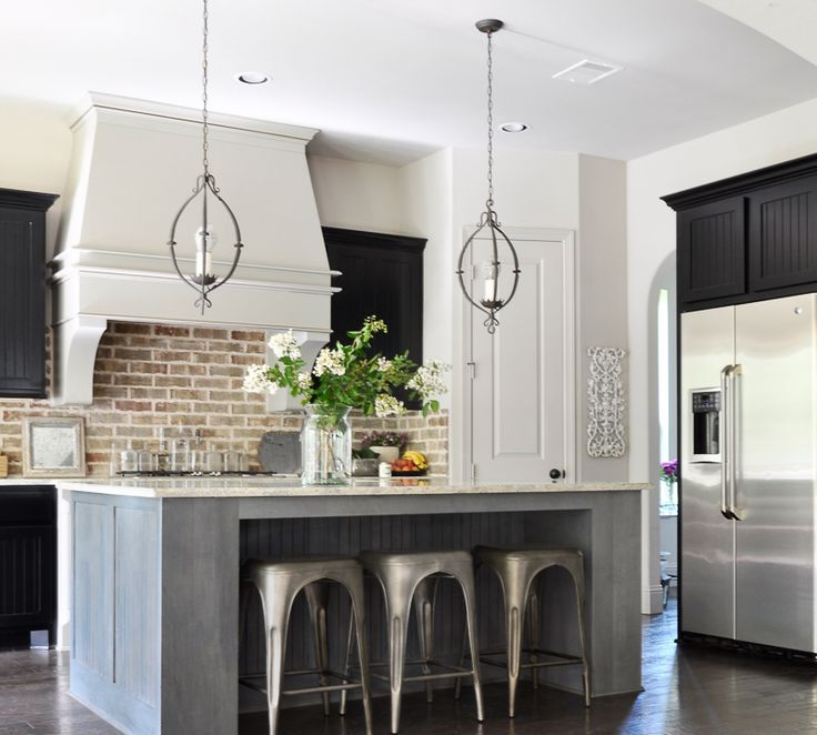 Welcoming Fall – A Fall Home Tour farmhouse kitchen with island