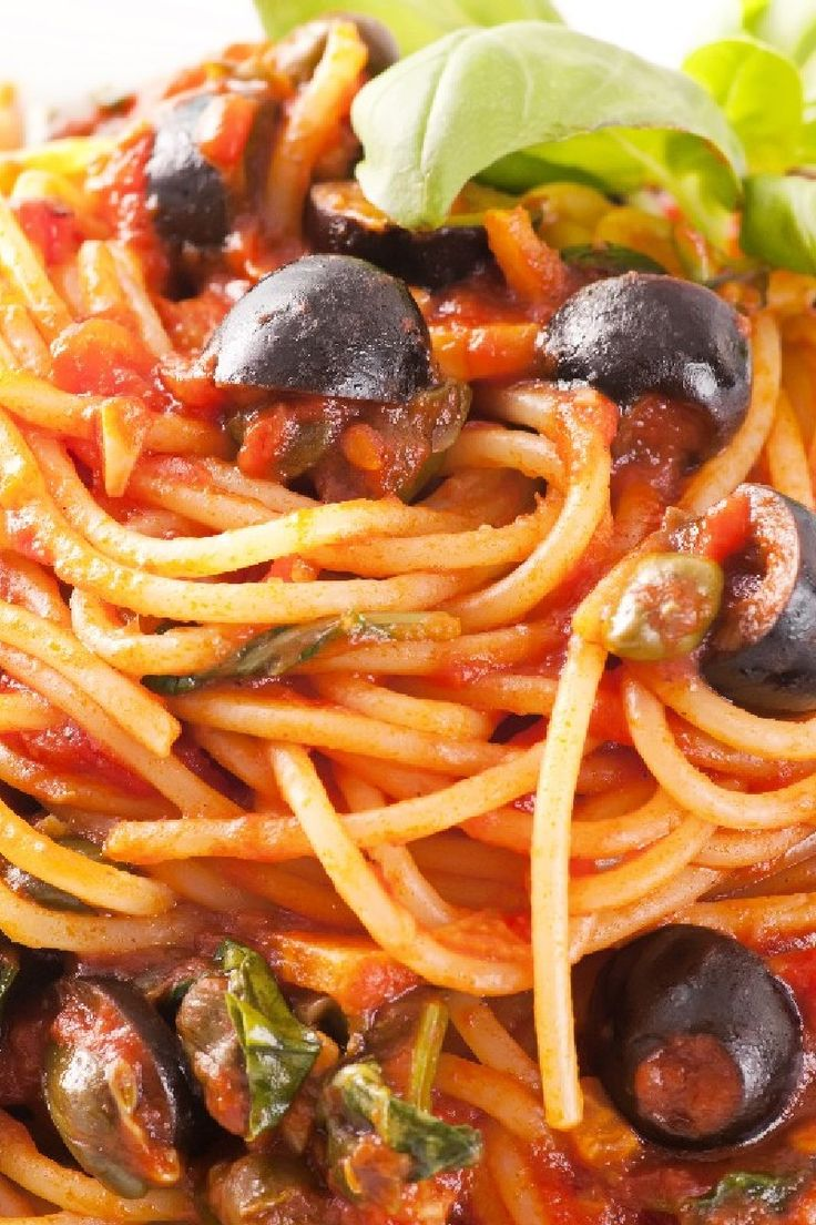 Pasta Puttanesca | Recipes to try out.... | Pinterest