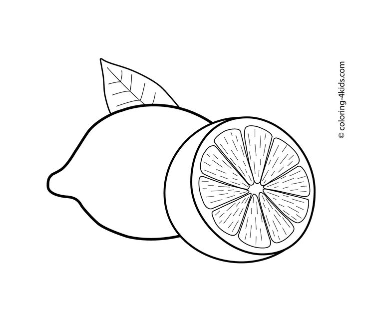 Lemons Fruits Coloring Pages For Kids Printable Free Lam ل Laymoon Lemonل In 2020 Fruit Coloring Pages Coloring Pages Coloring Pages For Kids