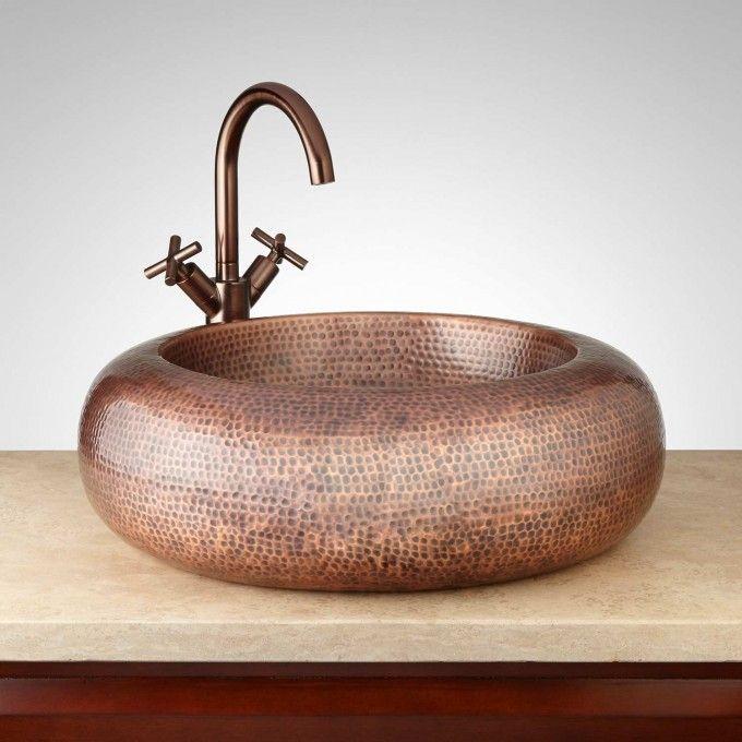 Leeram Round Copper Vessel Sink