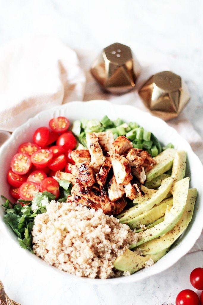 salade composée au poulet au miel 2