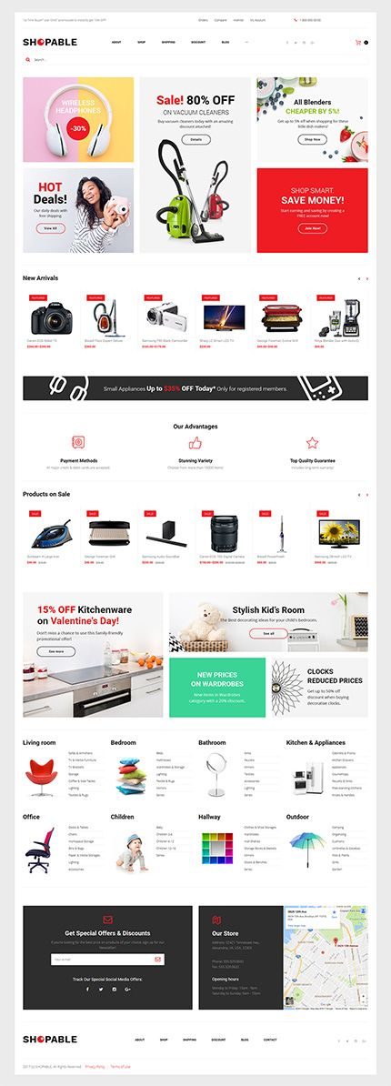 Electronics & Appliances Online Store #WooCommerce #template. #themes #business #responsive #WooCommercethemes