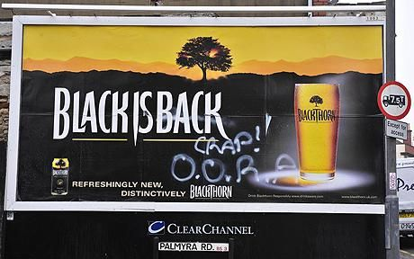Blackthorn Cider bill board advert: Blackthorn Cider suffers West Country revolt over changed recipe