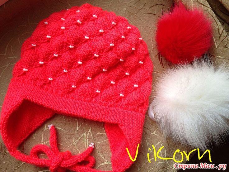 МК по вязанию двойных (полых) ушек к детской шапке