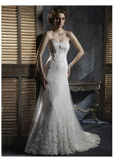 cheap hot sell casual a-line wedding dresses