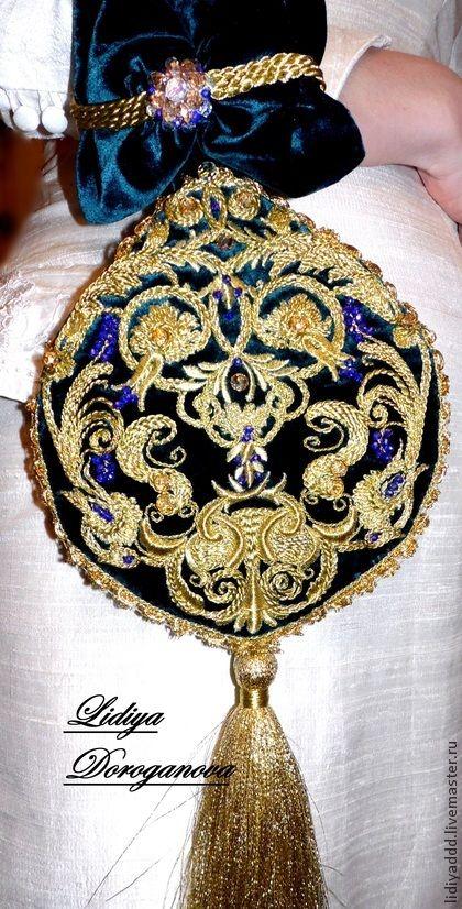 """Сумочка """"Людовика"""" золотное шитье - золотой,орнамент,сумочка вечерняя"""
