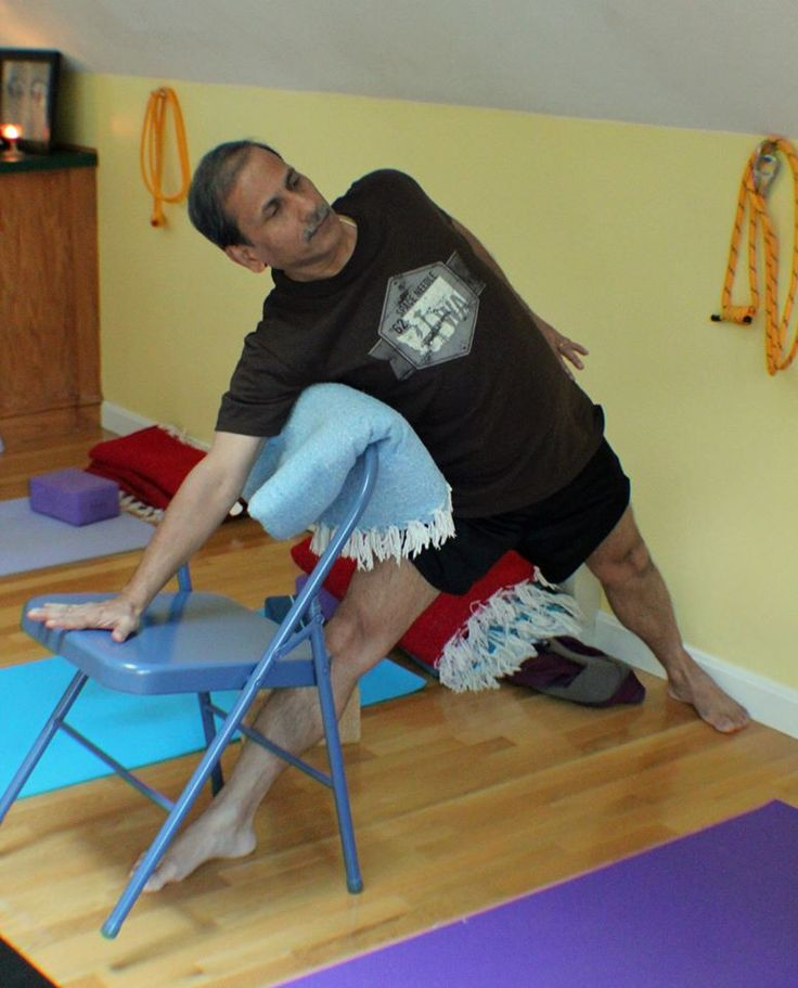 86 best images about iyengar yoga chair standing poses on for Chaise yoga iyengar