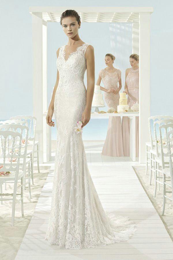 58 besten Vestidos de novia con encaje Bilder auf Pinterest | Die ...