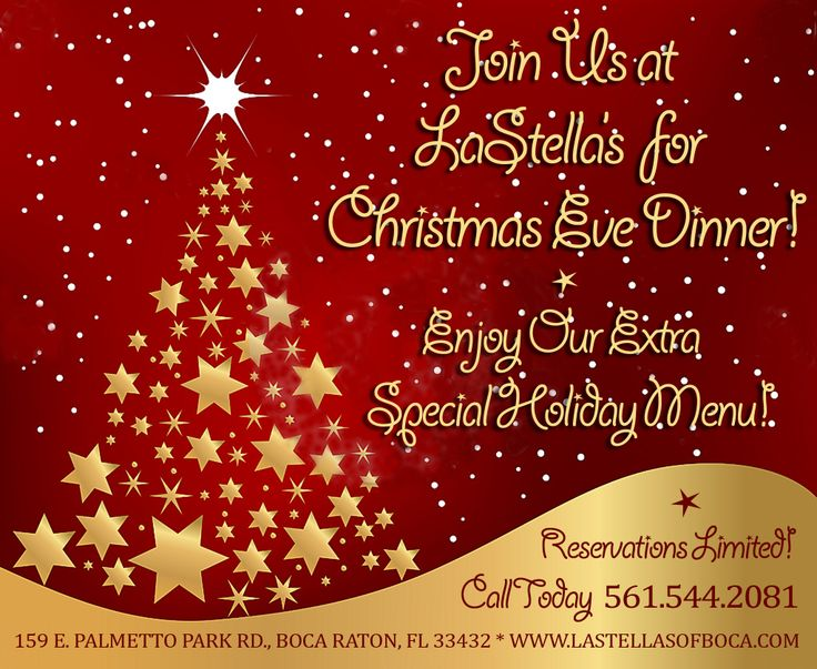 Christmas eve dinner at lastella s events pinterest