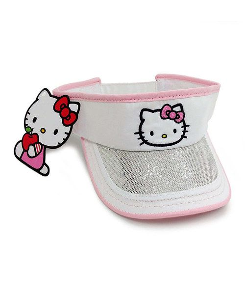 Take a look at the White Hello Kitty Visor on #zulily today!