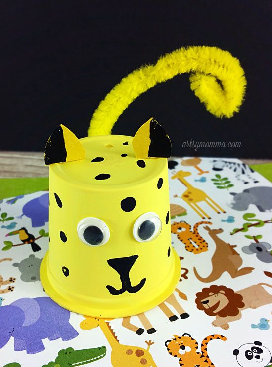 Recycle a k cup into a super cute Cheetah Craft!                                                                                                                                                                                 More