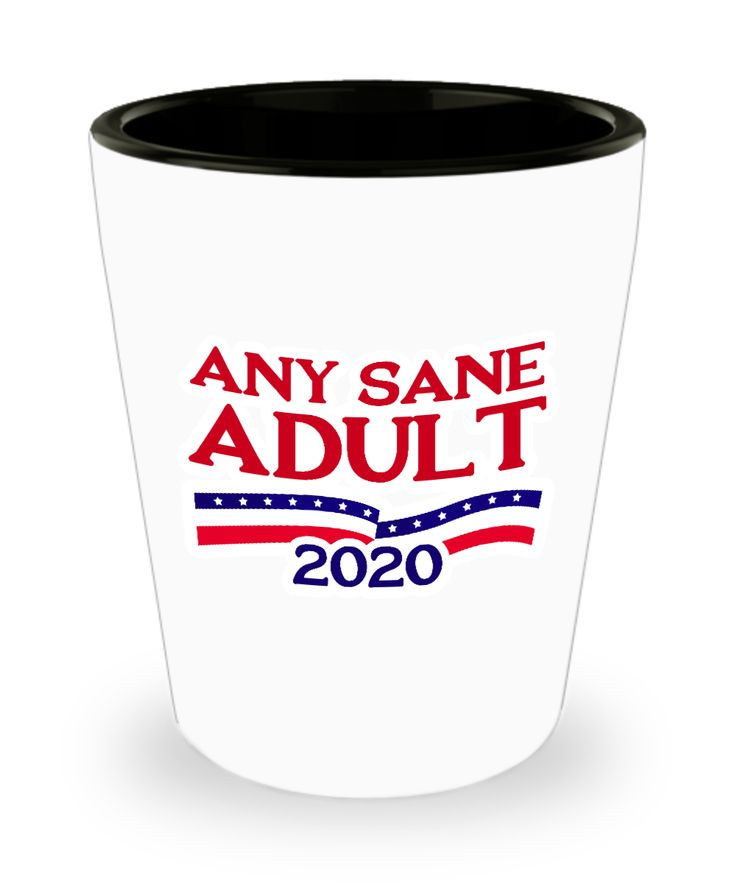 Any Sane Adult 2020 Funny Political Shot Glass Gift Election President Presidential Campaign Resist Resistance Dump Trump Sarcastic Joke Gag