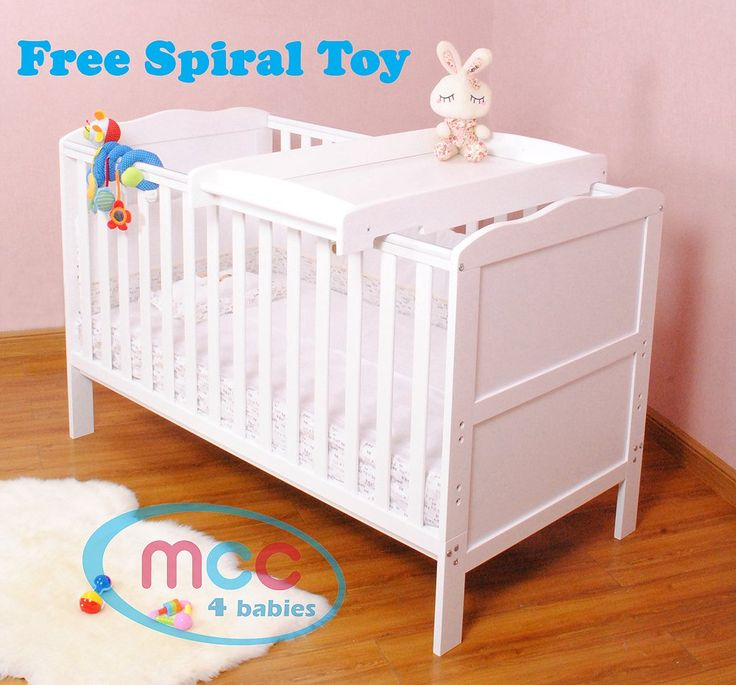 Solid Wooden Baby Cotbed Cot Bed Toddler with Top Changer & Premier Water repellent Mattress Made in England: Amazon.co.uk: Baby