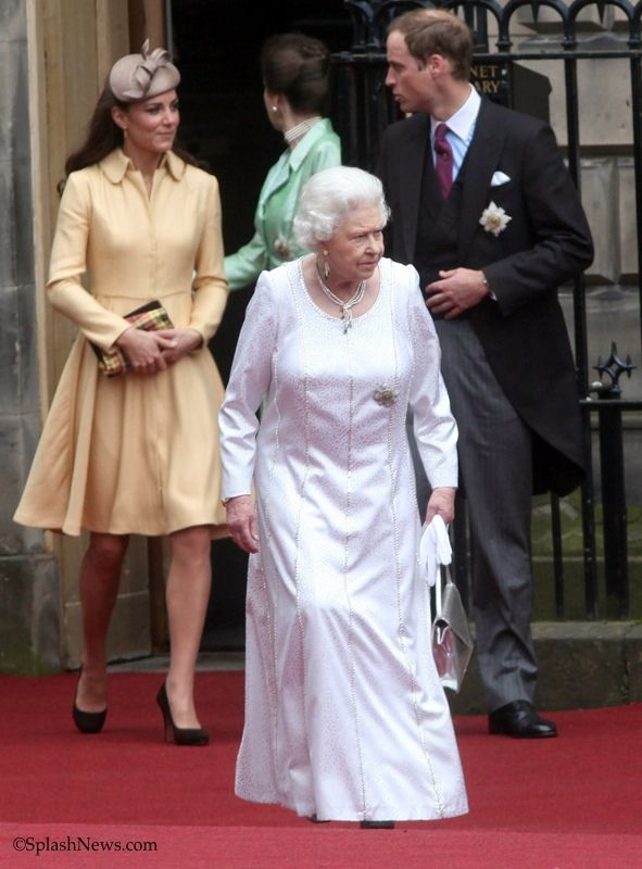 Will, Kate and the Queen at the Order of the Thistle in Scotland.