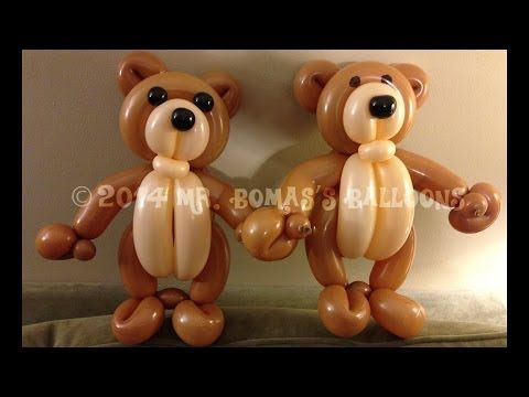 Teddy Bear Balloon Animal Tutorial (Balloon Twisting and Modeling #20 ) - YouTube by Mr. Boma's Balloons