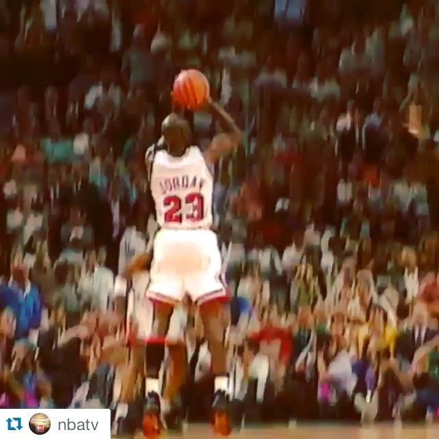 (VIDEO) @get1later Instagram photos | Websta - It was 23 Yrs Ago Tonight....The @ChicagoBulls beat The Portland @Trailblazers 122-89 in Game 1 of the #NBAFinals. Michael Jordan scored a game-high 39 points, set NBA Finals records for points scored in a half (35) and 3-pointers made in one half (6). This was The Game He Gave @magicjohnson the Infamous MJ SHRUG #MJ #NBAFinalsMoments