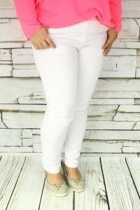 Spodnie jednolite białe