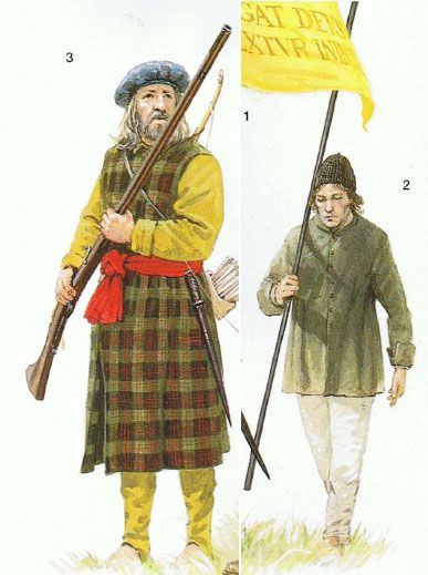 Soldiers of the Irish Confederacy of the 1640s.