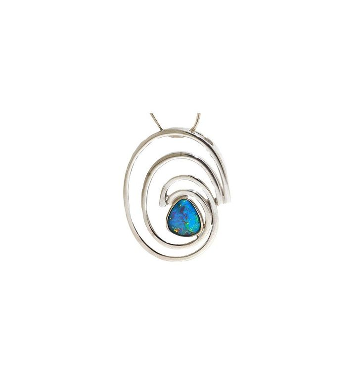 absolutely stunning silver pendant with Free form opal. Perfect for Christmas Gifts
