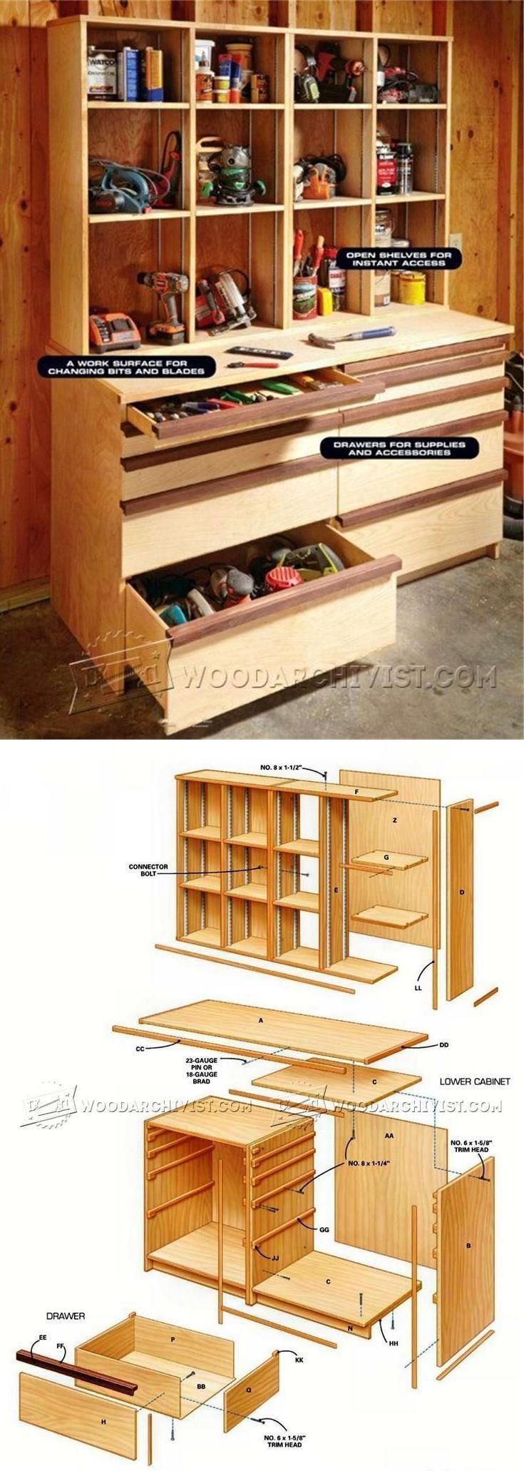 Ultimate Tool Cabinet Plans - Workshop Solutions Plans, Tips and Tricks | WoodArchivist.com #WoodworkingPlansWorkbench