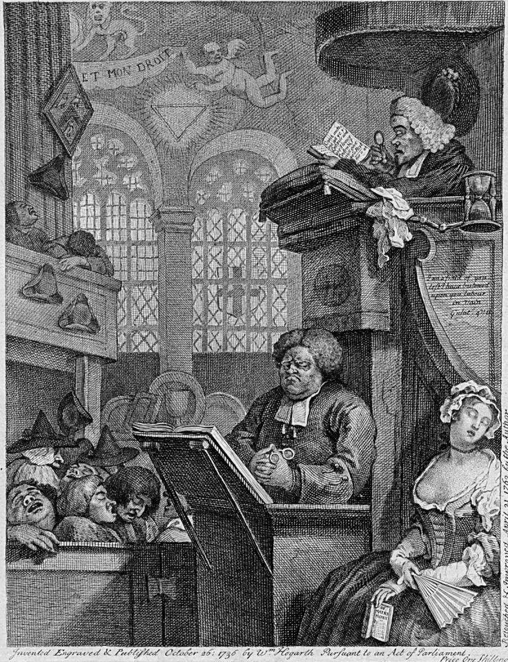 William Hogarth : The Sleeping Congregation