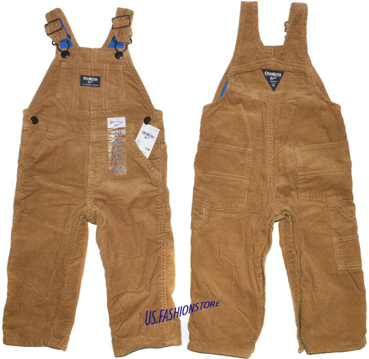 OshKosh B'gosh Latzhose Overall Kinder Cord Jeans Beige gefüttert 100%Baumwolle