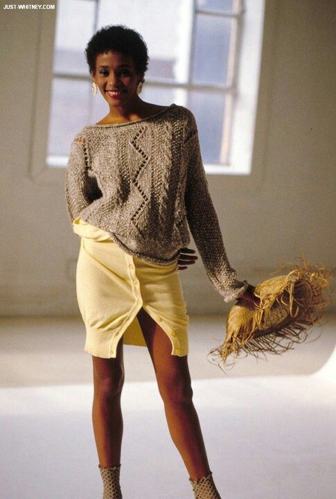 Whitney Houston Modeling In The Early 80s Whitney Her