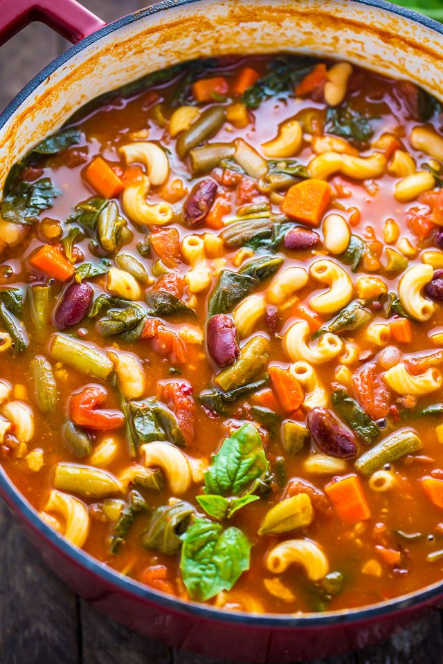 Loaded with flavor, this Italian Minestrone Soup is healthy, comforting, and delicious!