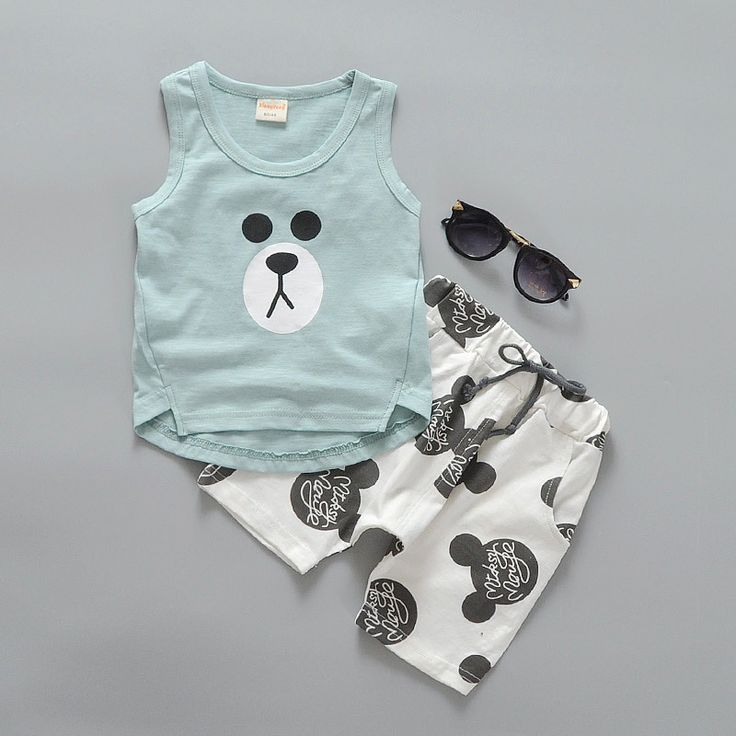 >> Click to Buy << hot! new 2016 summer casual toddler boy clothes suit panda pattern vest+mouse pant 2pcs baby clothing sets newborn boys outfits #Affiliate