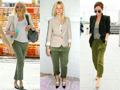 M s de 1000 ideas sobre pantalones color verde olivo en - Colores para combinar con gris claro ...