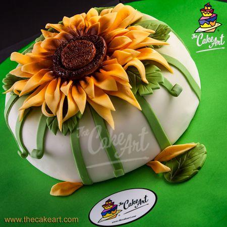 Pastel de Girasol – Sunflower Cake – 3D | thecakeart.com