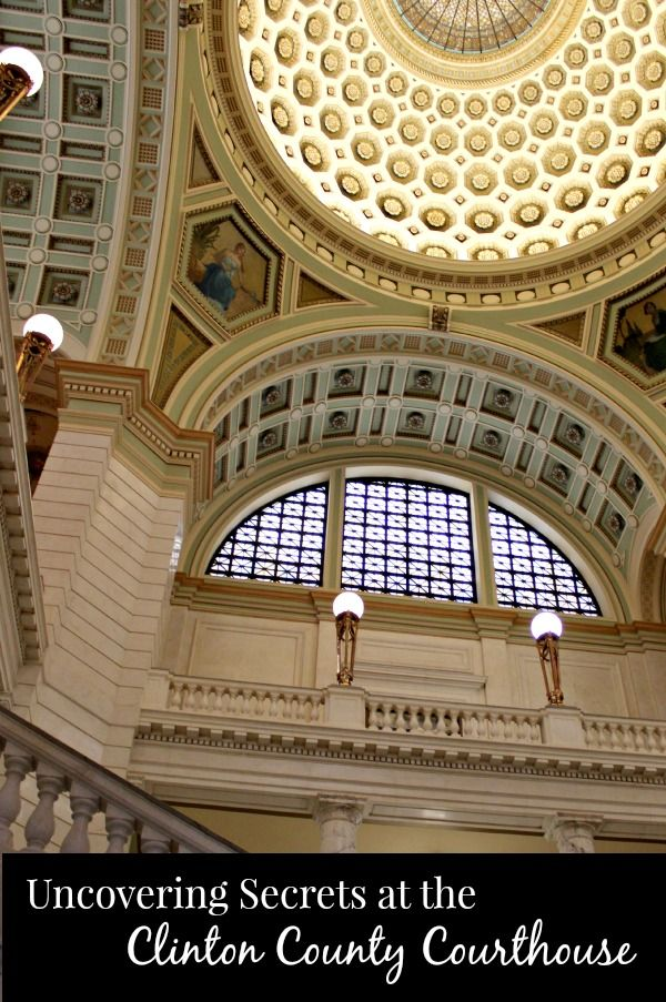 """Do you like architecture & enjoy visiting places """"off the beaten path?"""" Uncover the secrets of our Clinton County Courthouse with The Traveling Praters:   http://www.thetravelingpraters.com/uncovering-secrets-clinton-county-courthouse/  #Ohio #architecture #restoration"""