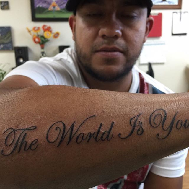 10 best stuff to buy images on pinterest design tattoos for The world is yours tattoo