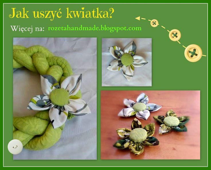 Rozeta handmade: Jak uszyć kwiatka z materiału? Kwiatek krok po kroku...