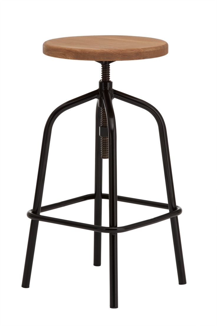 Retro Turning Stool - Height Adjustable -- This funky Retro turning stool is carefully crafted and can be adjusted from 64cm to a high of 79cm.