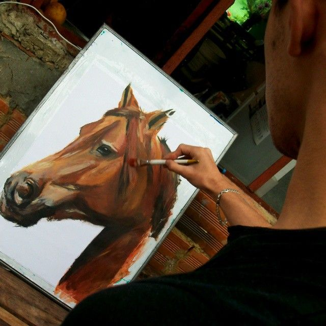 and I - love every time like this #cavallo #Caballo #Horse #pferd #Painting #art…