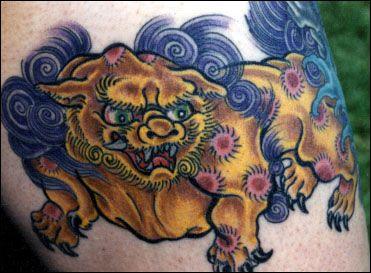 Foo Dog Tattoos http://www.coolanimaltattoos.com/foo-dog-tattoos