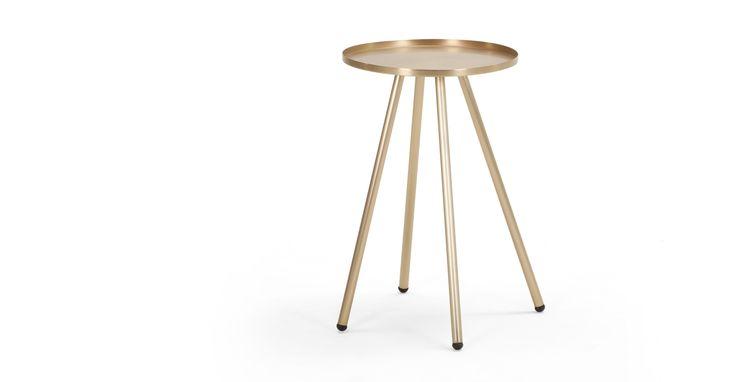Alana Bedside Table, Brushed Brass