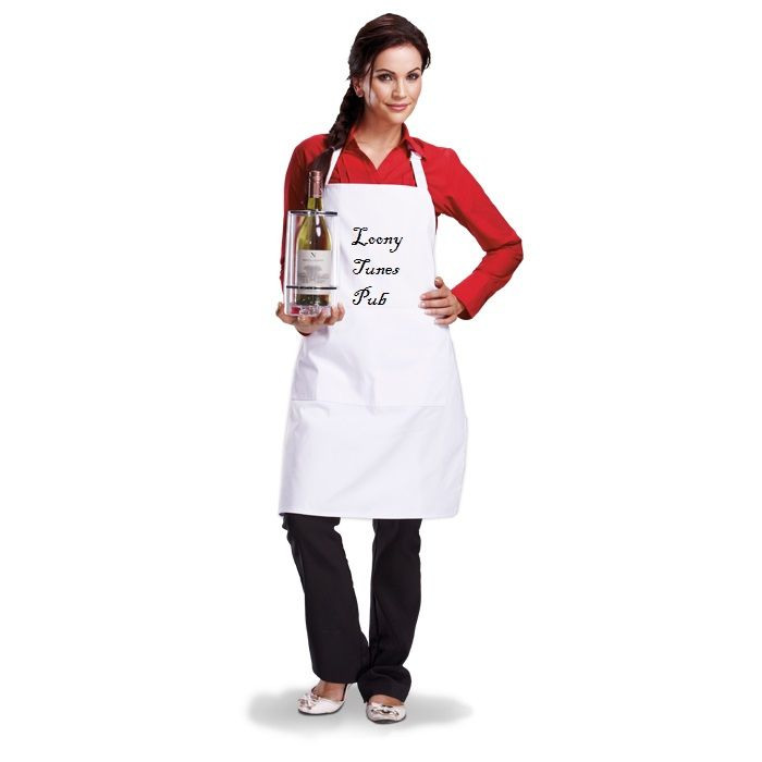 Add your own logo or text to this apron