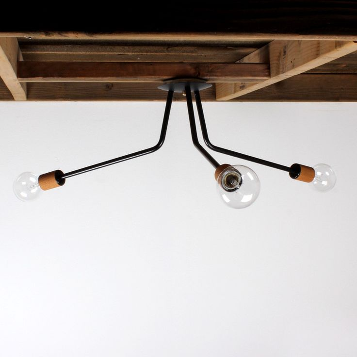 Modern wood socket ceiling light - onefortythree 325