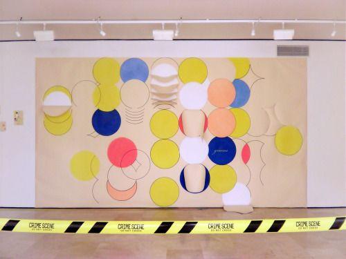 Aurelio Ayela gracias. 2011 Rotulador y pastel/papel recortado. 480 x 258 cm. VIA MORE