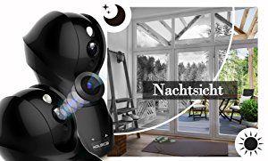 Wlan IP Kamera, Aoleca 1080P HD WiFi Überwachungskamera,mit 350°/100°Schwenkbar,Home und Baby Monitor mit Bewegungserkennung,Zwei-Wege-Audio,Nachtsicht,unterstützt Fernalarm und Mobile App Kontrolle: AmazonSmile: Baumarkt