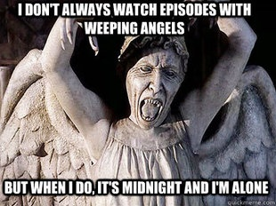 I don't always watch episodes with weeping angels, but when I do it is midnight and I'm alone.