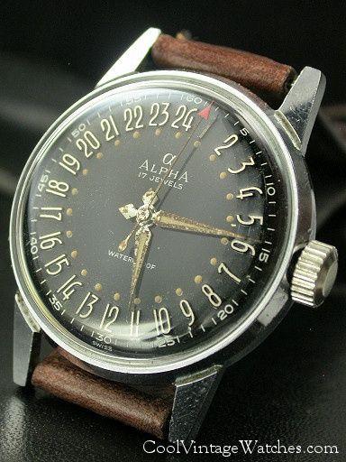 Vintage Alpha 24-hour Watch