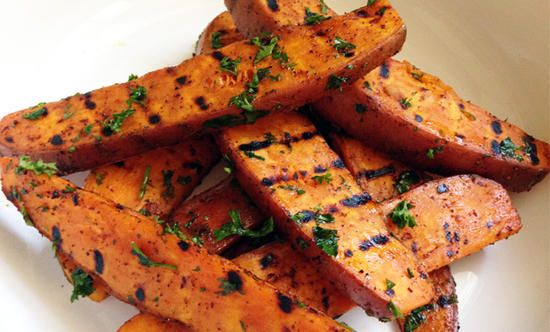 Firehouse grilled sweet potato fries. #forkandhose